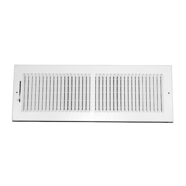 20 Inch x 6 Inch Wall and Ceiling Register - Two-Way - Steel