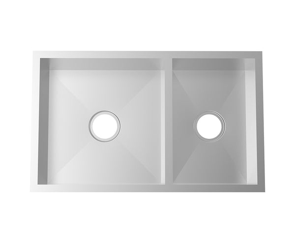 Kitchen Sink - Stainless Steel 31 Inch - 60/40 Double Bowl ...