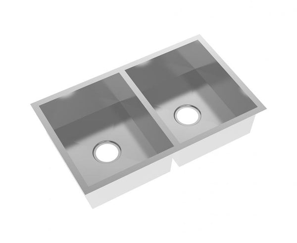 Kitchen Sink - Stainless Steel 31 Inch - 50/50 Double Bowl - Undermount
