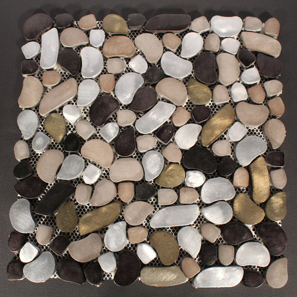Glossy Stone Mosaic Backsplash Tiles