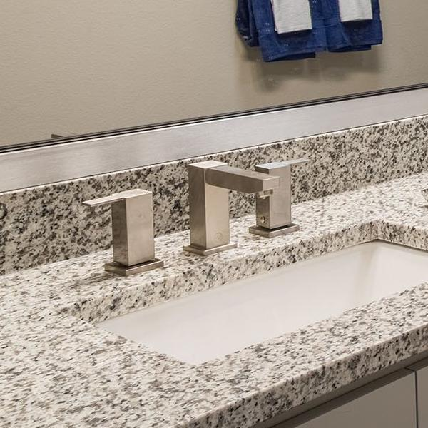 Rectangular Design Faucet - Installed in bathroom