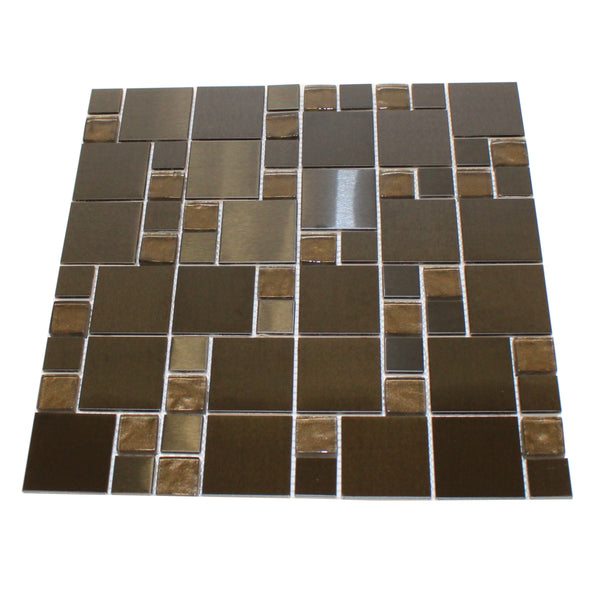 Dark Mosaic Tile - Stone and Glass
