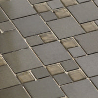 Dark Mosaic Tile - Stone and Glass up close