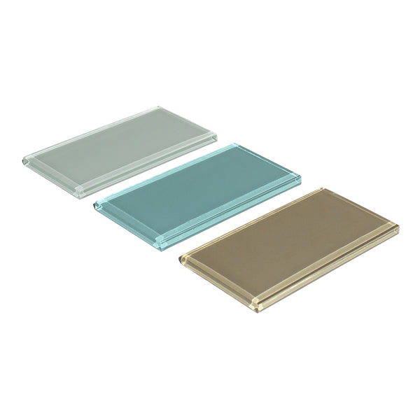 Subway Tile - Glass - 3 inch by 6 inch - in 3 colors