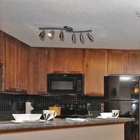 Track Lighting - 6 Lights with Twin Bluetooth Speakers in kitchen