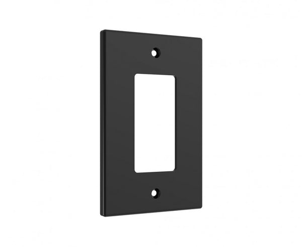 Black Wall Plate for GFCI Outlet or Rocker Switch