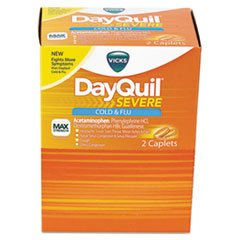 Cold & Flu Caplets, Daytime, Severe Cold & Flu, 25 Packs/box By: DayQuil