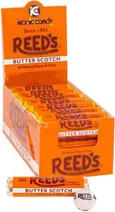 Reed's Rolls Candies, Butterscotch, 24 Count