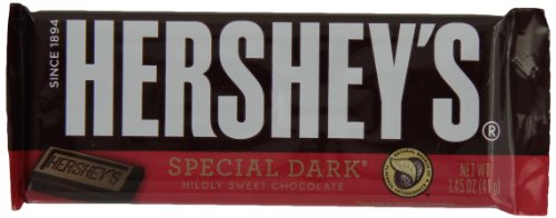 HERSHEY'S SPECIAL DARK Bar, Mildly Sweet Chocolate Candy Bar, 1.45 Ounce Bar