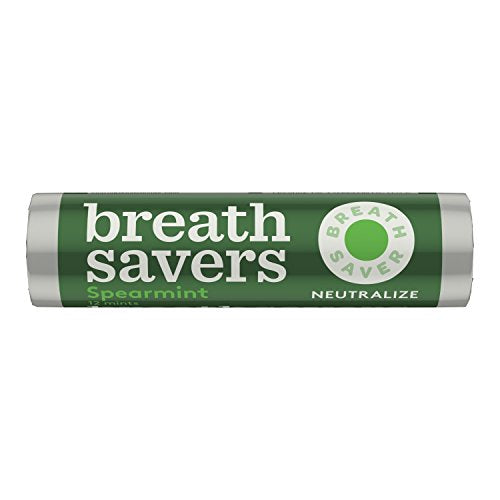 BREATH SAVERS Mints, Spearmint, Sugar Free, 0.75 Ounce Roll (Pack of 24)