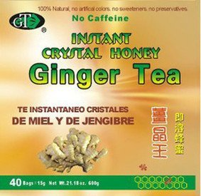 GoTo Tea Instant Crystal Honey Ginger Tea (40 Tea Bags)