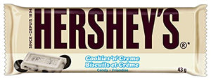 HERSHEY'S Cookies 'N Crème Candy Bar, White Creme with Cookie Bits, 1.55 Ounce Bar (36 Count)