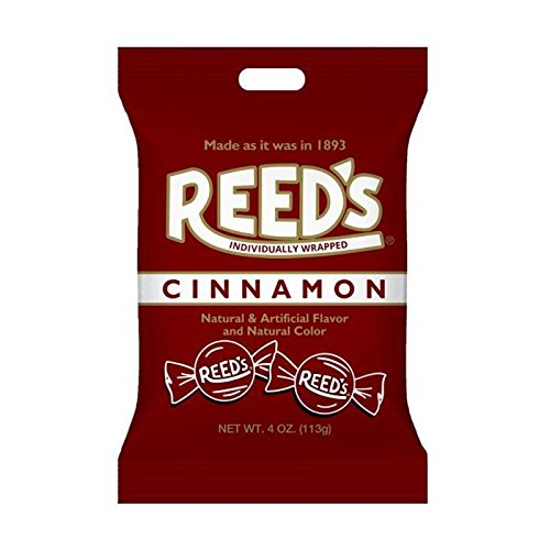 Reeds Cinnamon Hard Candy Peg Bag 4 oz (Pack of 12)