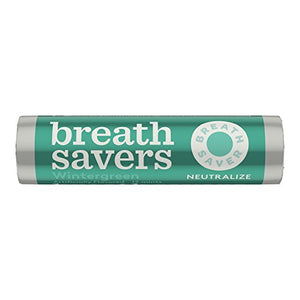 BREATH SAVERS Mints, Wintergreen, Sugar Free, 0.75 Ounce Roll (Pack of 24)