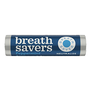 BREATH SAVERS Mints, Peppermint, Sugar Free, 0.75 Ounce Roll (Pack of 24)
