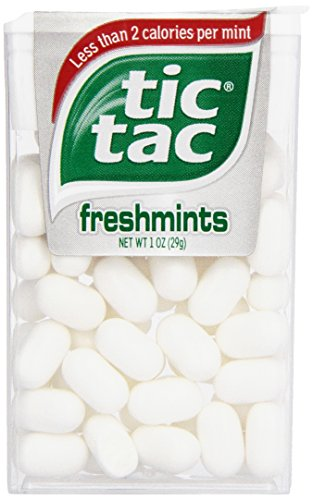 Tic Tac Mints, Freshmints Singles, 1 oz. (Pack of 12)