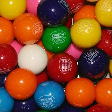 Dubble Bubble Assorted 24mm Gumballs 1 Inch, 3 Pounds Approximately 165 Gumballs BY The Nile Sweets