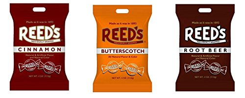 Reed's Classic Hard Candy Bags, Individually Wrapped, Variety Pack  (Pack of 3)