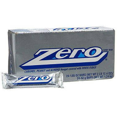 ZERO White Fudge Candy Bar (Pack of 24)