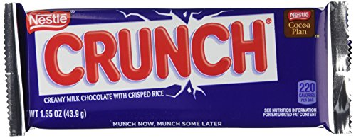 Nestle Crunch Chocolate Single, Candy Bars (Pack of 36)