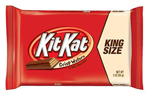 KIT KAT Chocolate KING  Candy Bars, Crisp Wafers in Milk Chocolate, 3-Ounce Bars (Pack of 24)