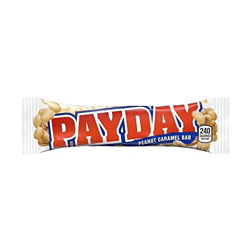 PAYDAY Peanut Caramel Candy Bar, Halloween Candy (Pack of 24)