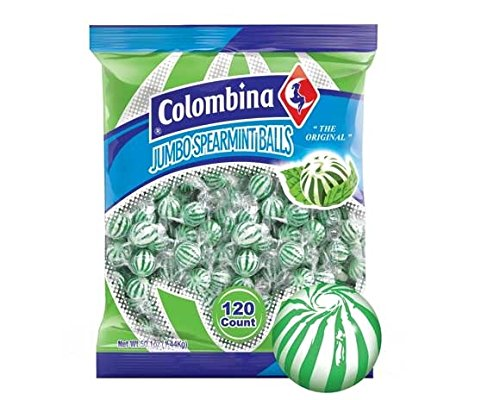 Jumbo Mint Balls (Spearmint, Bulk-120ct)