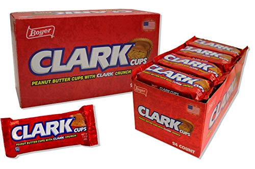 Boyer Candy Peanut Butter Clark Cups, 1.5 Ounce: Display Box of 24 Packs