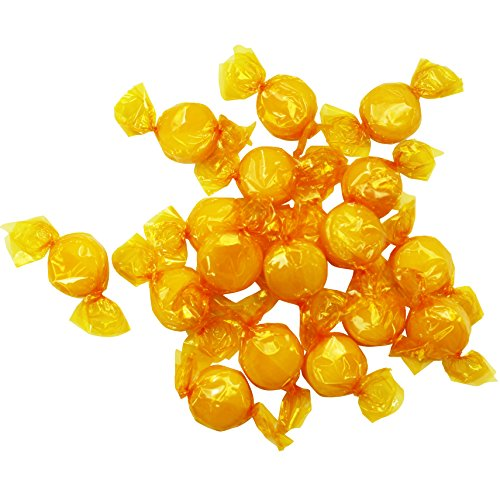 Butterscotch Hard Candy - Bulk Candy - 4 Pounds- Individually Wrapped Candy - Butterscotch Discs Buttons -