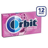 Orbit Bubblemint Sugarfree Gum, 14 pieces, (Pack of 24)