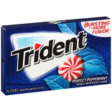 Trident Sugar Free Gum, Peppermint, 12 Pack