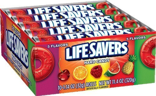 LifeSavers 5 Flavor Hard Candy, 1.14-Ounce Rolls (Pack of 60) by LifeSavers