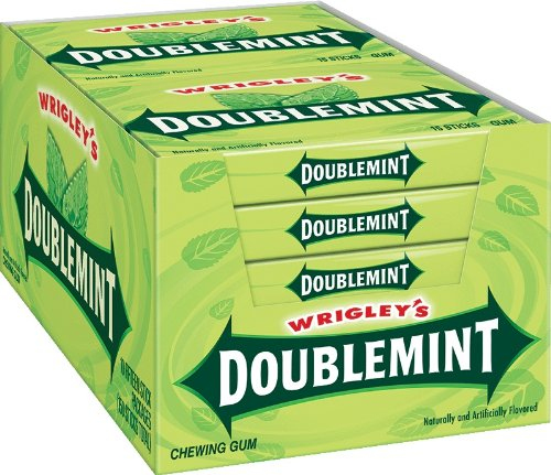 Doublemint Gum, 15 Sticks Each (Pack Of 10)