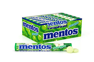 Mentos Chewy Mint Candy Roll, Green Apple, 1.32 ounce/14 Pieces (Pack of 15)