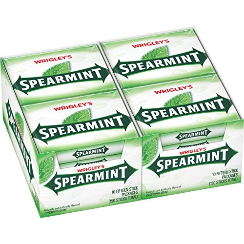 Wrigley's Spearmint Gum, 15-Stick Slim Packs (Pack of 20)