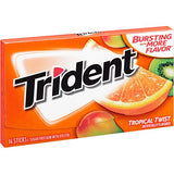 Trident Sugar Free Gum, Tropical Twist, 14 ct (Pack of 12)