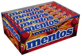 Mentos Chewy Mint Candy Roll, Cinnamon,  Candy, 1.32 ounce/14 Pieces (Pack of 15)