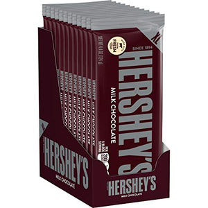 HERSHEY'S Milk Chocolate Bulk Holiday Candy, 4.4 Ounce, Extra Large Bars, 12 Count