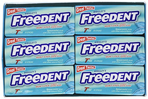 Freedent Gum Spearmint T Pak 15 Stick 12 count per box (2 Pack)  24 TOTAL