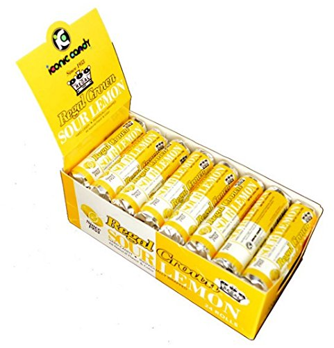 Regal Crown Hard Candy Rolls - Sour Lemon 24 ct