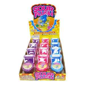 Kidsmania Sour Flush Candy Toilet with Sour Powder Dip 12ct