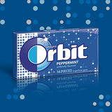 Orbit Peppermint Sugarfree Gum, 14 count  (Pack of 24)