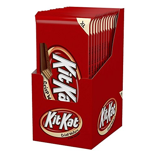 HERSHEY'S KIT KAT Candy Bar, Milk Chocolate Covered Crisp Wafers, Extra Large (4.5 Ounce) Bar (Pack of 12)