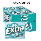 Extra Polar Ice Sugarfree Gum, 15 Count, Pack of 20