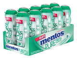 Mentos Pure Fresh Sugar-Free Chewing Gum with Xylitol, Spearmint, 15 Piece Bottle (Pack of 10)