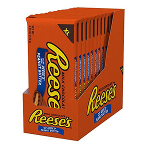 REESE'S  XL Peanut Butter Bar,12/4.25 ,Milk Chocolate Covered Peanut Butter Candy Bar