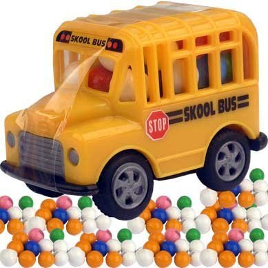 Kidsmania  Candy Filled Toy School Bus - 12 PACK