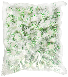 Quality Candy Spearmint Starlights - 2 Lb Bag