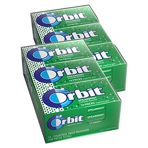 Orbit Spearmint Sugarfree Gum, (Pack of 24)