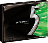5 Gum Sugar Free Gum, RainSpearmint, 15 Piece Pack (10 Packs)